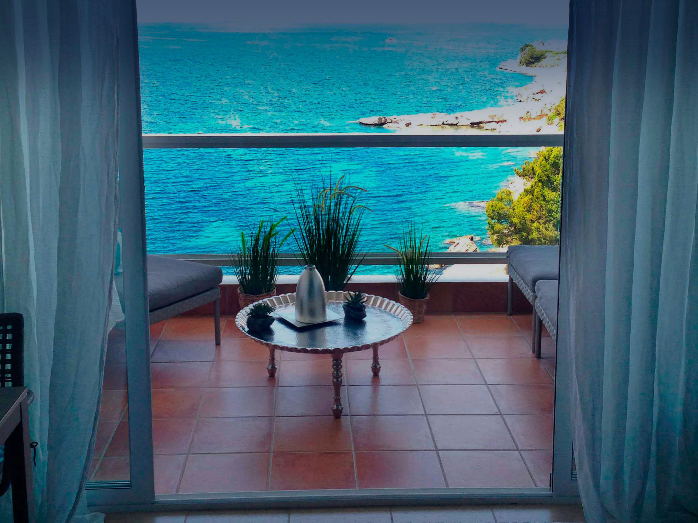 Blue View Appartment | Balkon
